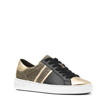 Michael Kors Women's Keaton Stripe Lace Up Glitter Chain Mesh Sneakers Shoes (7)