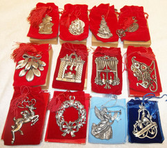 Lot of 12 Vintage Avon Pewter Christmas Ornaments '01 - '02 & '05 - '14 ... - $99.99