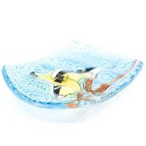 Fused Art Glass Goldfinch Yellow Finch Bird Design Soap Dish Handmade Ecuador image 3