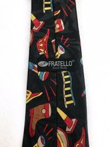 Fratello Firefighter Fire Truck Hydrant Vintage Novelty Tie Necktie Mens  image 4