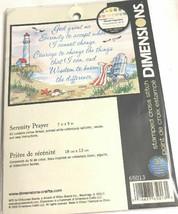 Dimensions Serenity Prayer Stamped Cross Stitch KIT 65013 Seaside Beachscene - $37.21