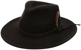 Scala Classico Men's Crushable Felt Outback Hat, Chocolate, Small - $49.37