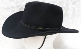 Stetson Crushable Glacier Black Wool Hat Sz.S Cowboy Western Hat Water R... - $48.38