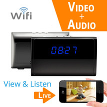 Full HD 1080P WiFi Desk/Table/Mantel Clock Camera Motion Activated/ Live... - $68.31
