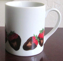 SWEETS Strawberries Collectible Porcelain Mug, Made In Japan Exclusively... - $13.00