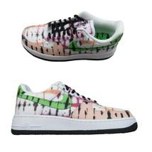 Nike Air Force 1 '07 QS Womens Black Multi Tie Dye Shoes Size 8 NEW CW12... - $108.85