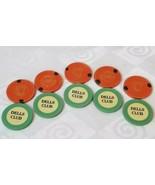 10 Illegal Clay Casino Poker Chips Prohibition Speakeasy 5 Dells 5 VCC M... - $56.53
