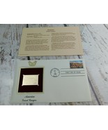 America Grand Canyon 22kt Golden Replica Stamp 1990 First Day Stamp  - $19.79