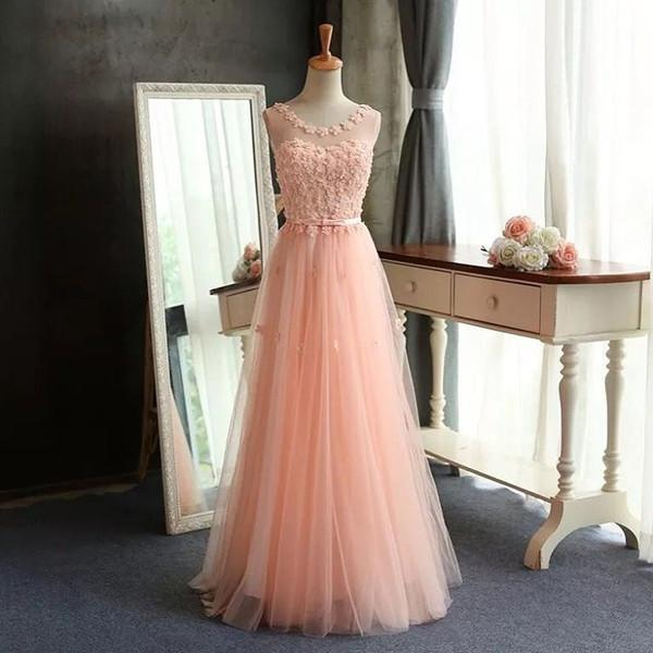 pink prom Dress,long Prom Dresses,tulle Evening Dress,A-line prom dresses