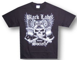 Black Label Society-Skull and Axes-Black T-shirt - $12.99