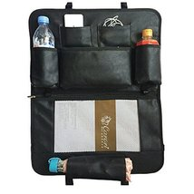 PANDA SUPERSTORE Car Seat Back Organizer Leatherware Storage Bag,Black B