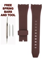 Compatible Seiko SNAE16P 26mm Brown Rubber Watch Strap SKO104 - $24.74