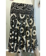 Diane Von Furstenberg Flocked Floral Velvet Full Sweep Circle Zoya Skirt 6 - $94.99