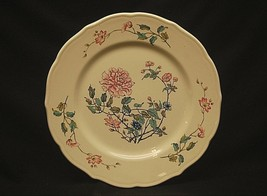 "Summerdale by Syracuse 10-1/2"" Dinner Plate Restaurant Ware Floral Rim & Center - $19.79"