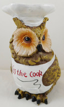 "Kiss The Cook Owl Figurine Chef Resin 6 1/2"" - $29.69"