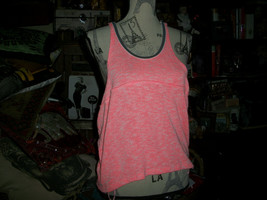 ANTHROPOLOGIE  WE THE FREE FREE PEOPLE Poppin Pink Knit Racer Back Tank ... - $10.89