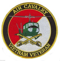 """ARMY AIR CAVALRY  VIETNAM VETERAN  4"""" EMBROIDERED MILITARY PATCH - $18.04"""