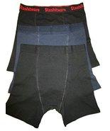Mens Stashitware Secret Pocket Underwear, Boxer Brief, Black, Blue, Blac... - $34.00