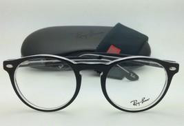 New RAY-BAN Eyeglasses ICONS RB 5283 2034 51-21 Black & Clear Frames w/Demo Lens