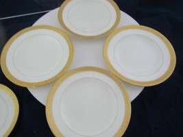 Four Vintage Gold Rimmed Minton China Gold Rimmed Bread And Butter Plates Exc !! - $49.95