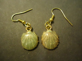 Sea Color Sea Shell Earrings #9835 >> Combined Shipping - $2.75