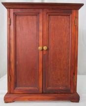 Vintage Wooden Doll Wardrobe Amoire - $59.39
