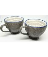 Grey Blue Pfaltzgraff Coffee Cup Mug EVERYDAY Oversize NICE - $16.00