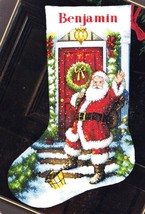 Dimensions Welcome Santa House Christmas Eve Cross Stitch Stocking Kit 0... - $42.95