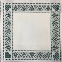 ZWEIGART's Tannenbaum Afghan 18 count Antique White Green 42 X 55 Cross Stitch - $56.95
