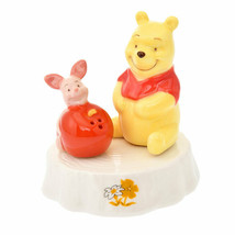 Disney Store Japan Pooh & Piglet Figure Spice Bottle Salt Pepper Case - $58.41