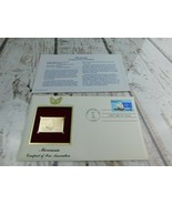 Micronesia 22kt Golden Replica Stamp 1990 First Day Stamp  - $19.79