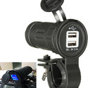 12/24V Motorcycle Dusl USB 2.1A+1A Cigarette Charger Adapter