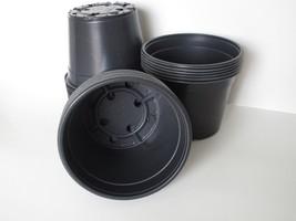 """Set of 50 - 6"""" Round Black Nursery Pots DILLEN plants flower pot plastic... - €18,30 EUR"""
