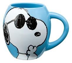 Vandor 85401 Peanuts Joe Cool 18 oz Oval Ceramic Mug, Blue - $24.47