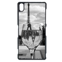 Coloful wine with Paris Sony M5 case Customized premium plastic phone case, desi - $11.87