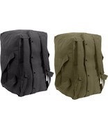 Heavy Duty Cotton Canvas Large Military Parachute Cargo Bag with Backpac... - $27.99