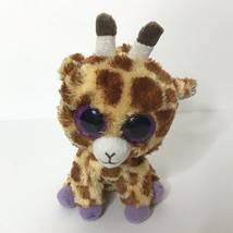 "TY Safari Giraffe Beanie Boo Plush Stuffed Animal 6"" Tall No Tag - $15.75"
