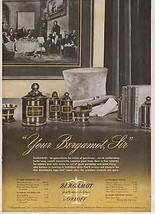 Apothecary Jars featured 1946 Orloff Bergamot Mens Ad - $14.99