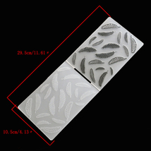 feather Pattern Plastic Embossing Folder Cutting Dies Template Decoratio... - $14.00