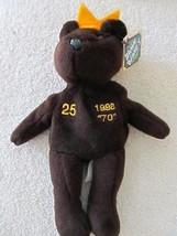 "1998 NWT Salvino's Bamm Beano's Mark McGwire #25 Dark Brown Plush Beanie Bear 9"" - $7.80"
