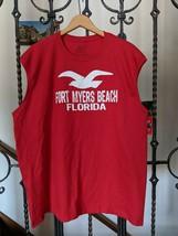 FORT MYERS BEACH Red Tee XL Florida T Shirt Sleeveless New - €4,57 EUR