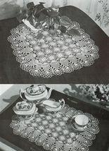 Pineapple Doilies Tablecloth Runner Luncheon Buffet Armchair Crochet Patterns  image 6