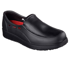 77090 Black Skechers shoes Work Safety Men Memory Foam Slip Resistant Sl... - $49.79