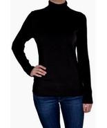Leo & Nicole Women's Turtleneck Ribbed Sweater Black  variety of sizes - $15.79