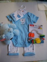 Baby Boy Gift Set, 6-9 Months,Lil' Tiger 4 Piece Outfit, Rattle, & Stuff... - $24.99