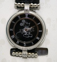 Mickey Mouse Watch Disney Women Prism Crystal  Black Dial 30 mm Case Watch New - $128.65