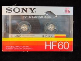 New Audio Cassette Tape Sony HF60 Type I Medium Bias New 60 Minutes - $4.95