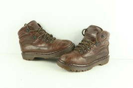 Vtg 90s Dr Martens Womens US 6 UK 4 Distressed Leather Ankle Boots Brown England - $79.15