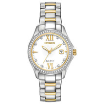 Citizen Silhouette Crystal Stainless Steel Ladies Eco-Drive Watch (FE1144-85B) - $97.02