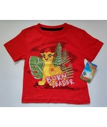 NEW Disney Boy Girl Toddler Lion Guard King Born Leader Red Shirt Movie Clothes - $12.95
